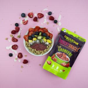 Gefriergetrocknete Früchte ohne Zusätze BIO Erdbeere natürlich Smoothie Bowl