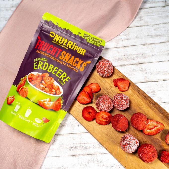 Gefriergetrocknete Früchte Erdbeere natürlich ohne Zusätze Bliss Balls