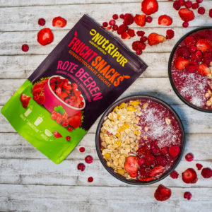 Gefriergetrocknete Früchte ohne Zusätze Smoothie Bowls natürlich Erdbeeren