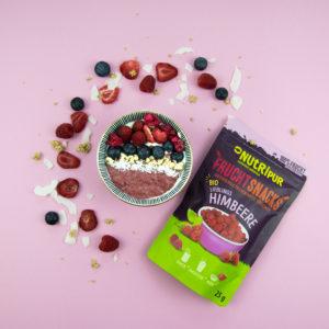Gefriergetrocknete Früchte ohne Zusätze BIO Himbeere Smoothie Bowl Frühstück