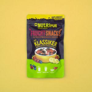 Gefriergetrocknete Früchte ohne Zusätze Erdbeeren Heidelbeeren Sauerkirschen Bananen Smoothie Bowl