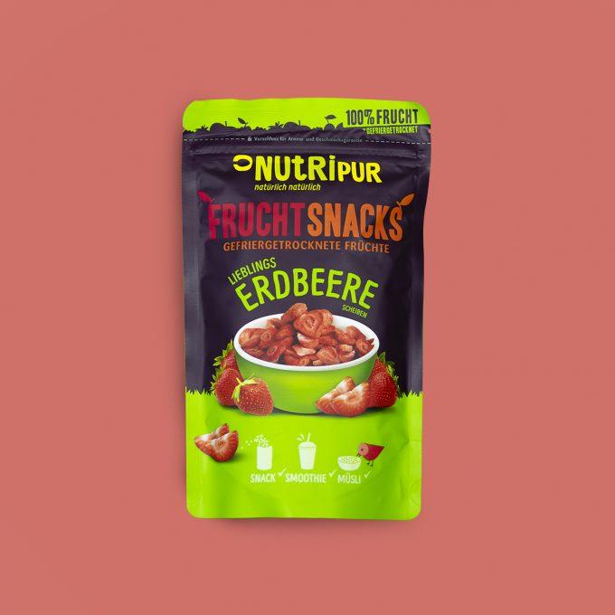 Gefriergetrocknete Früchte ohne Zusätze Erdbeere natürlich Smoothie Bowl