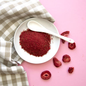 Gefriergetrocknete Früchte Erdbeeren Pulver Natürlich