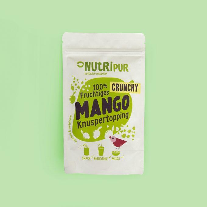Gefriergetrocknete Früchte ohne Zusätze Mango Topping natürlich Superfood