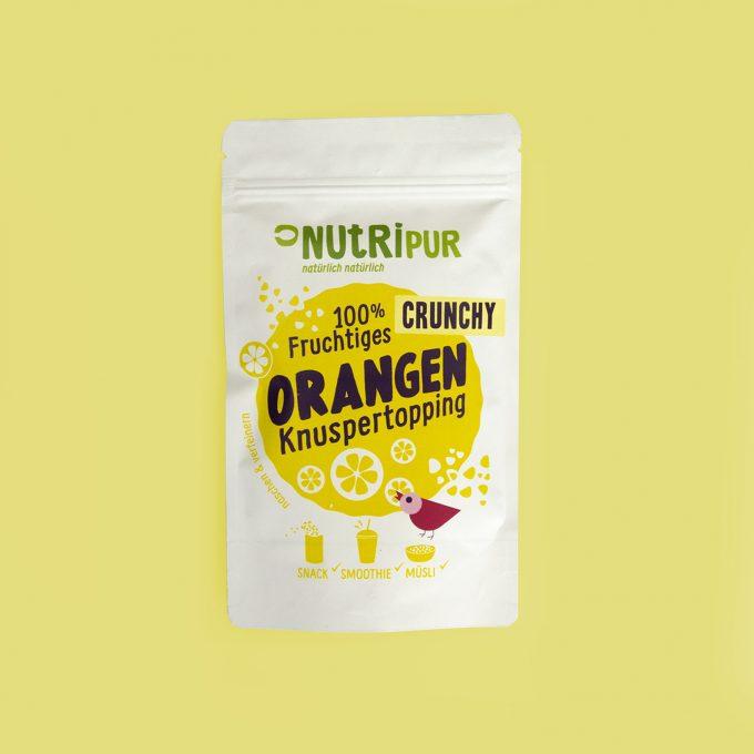Gefriergetrocknete Früchte ohne Zusätze Orange Topping natürlich Superfood