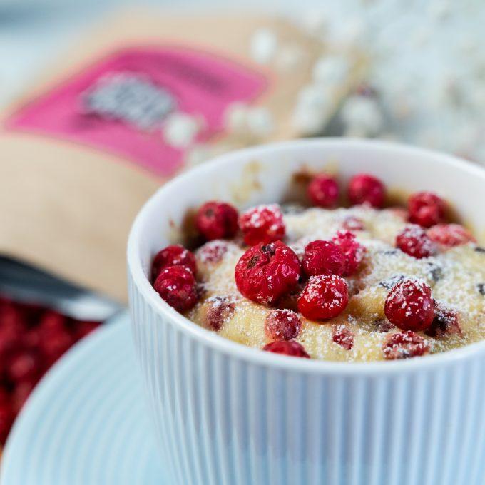 Gefriergetrocknete Früchte Kuchen Preiselbeeren natürllich vegan glutenfrei