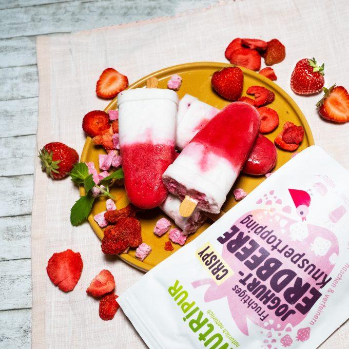 Gefriergetrocknete Früchte Erdbeere Joghurt Eis Rezeptidee