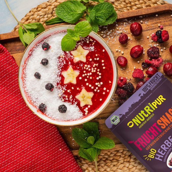 Gefriergetrocknete Früchte ohne Zusätze Bowl Frühstück BIO