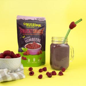 Gefriergetrocknete Früchte ohne Zusätze BIO Himbeere Smoothie natürlich vegan