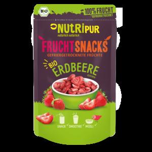 Gefriergetrocknete Früchte ohne Zusätze BIO Erdbeere natürlich