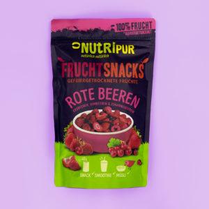 Gefriergetrocknete Früchte ohne Zusätze rote Beeren Erdbeeren Himbeeren Johannisbeeren natürlich Smoothie Bowl