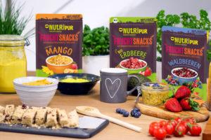 Gefriergetrocknete Früchte Mischungen Erdbeere Waldbeeren Smoothie Frühstück BIO Mango