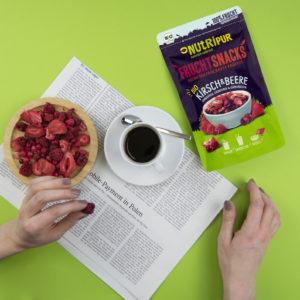 Gefriergetrocknete Früchte ohne Zusätze BIO Kirsch Beere natürlich Kaffee