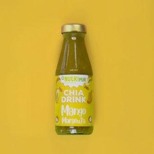 Chia Samen Drink Smoothie Mango Maracuja natürlich vegan