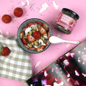Chia Samen Erdbeere Kerne natürlich Superfood Bowl ohne Zusätze