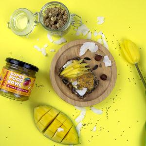Chia Samen natürlich Mango Kerne Superfood Snack Mahlzeit Kokos Nüsse
