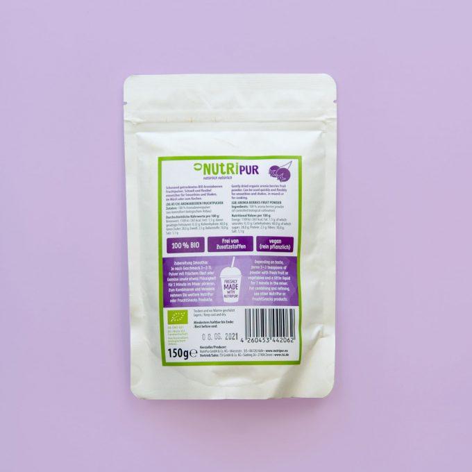 Gefriergetrocknete Früchte Aronia Pulver ohne Zusätze BIO natürlich vegan