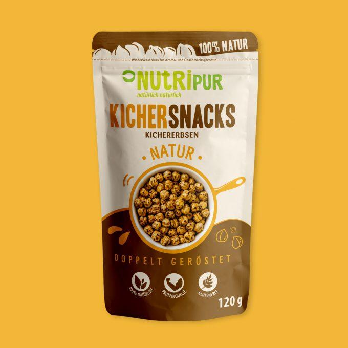 NutriPur Kichererbsen Kichersnacks geröstet