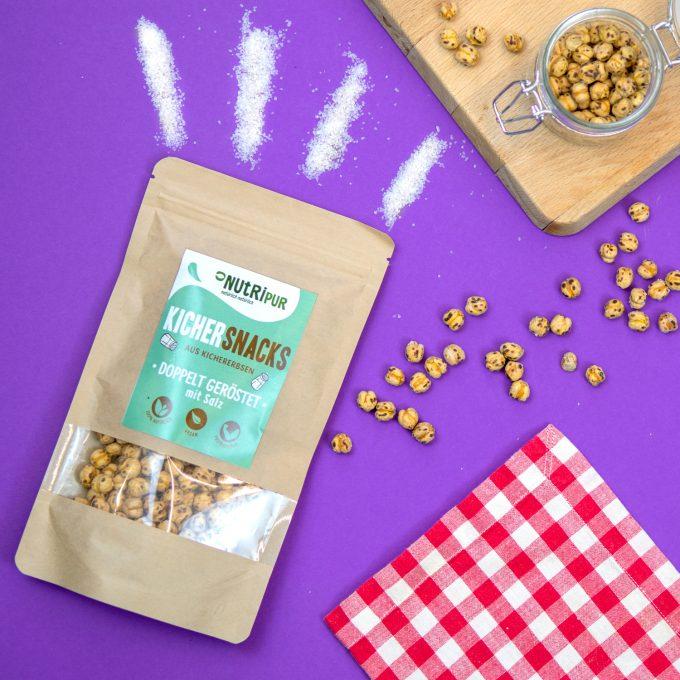 Kichererbsen doppelt geröstet Proteinquelle mit Salz