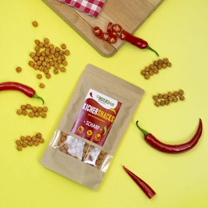 Kichererbsen doppelt geröstet Spicy ohne Zusätze