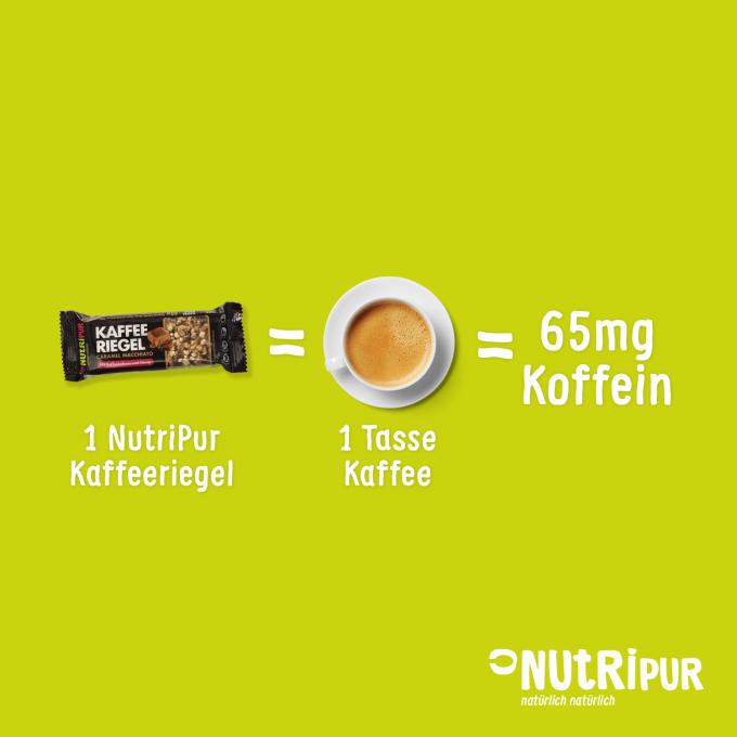 NutriPur Kaffeeriegel Caramel Macchiato Kaffee Koffein